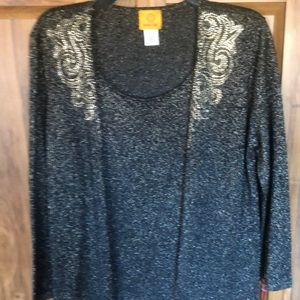 Ladies Ruby rd cardigan and tank